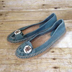 BC Footwear Suede Owl Button Espadrilles